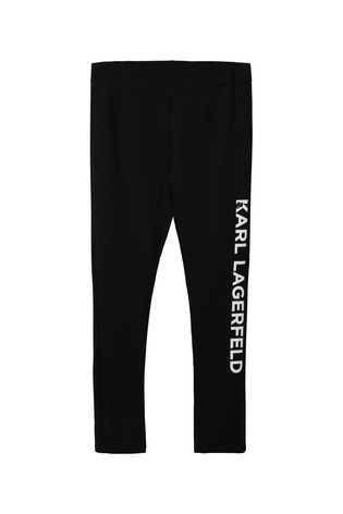 Karl Lagerfeld Black Side Logo Leggings