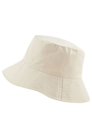 Accessorize Natural Utility Cotton Twill Bucket Hat
