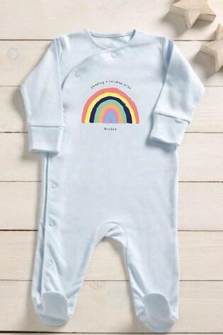 Personalised Chasing Rainbows Sleepsuit