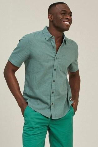 FatFace Green Bugle Micro Check Shirt