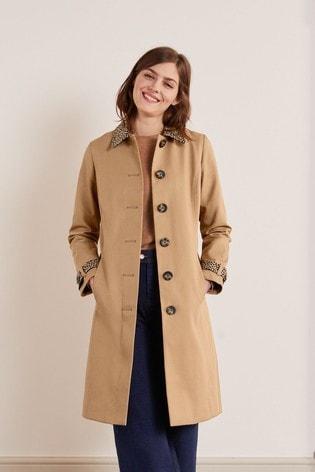Boden Brown Mark Trench Coat