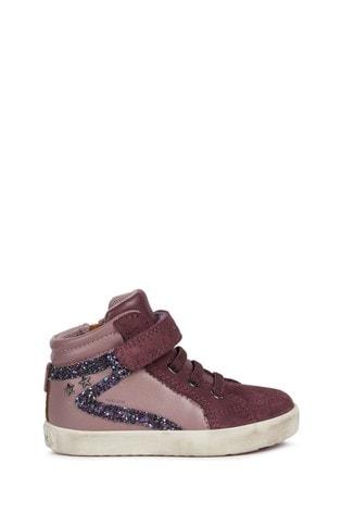 Geox Baby Girl's Kilwi Rose Smoke/Prune Sneakers