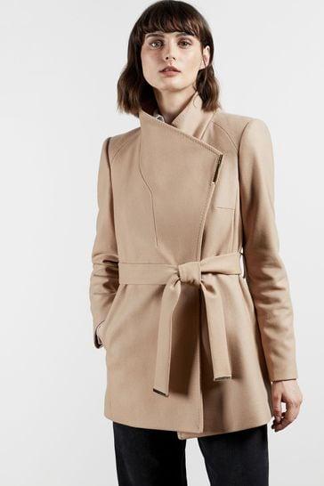 Ted Baker Rosess Short Wool Wrap Coat