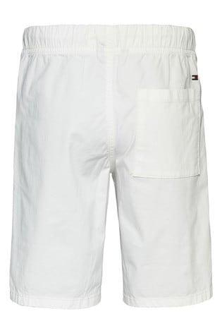 Tommy Hilfiger White Stretch Poplin Shorts