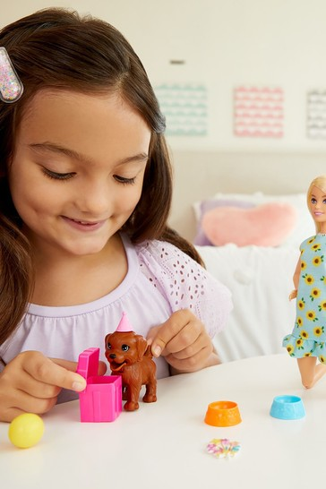 Barbie Puppy Party Playset And Doll