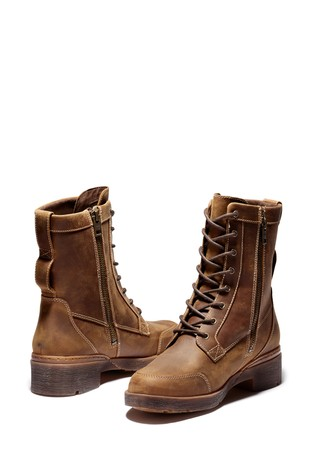 Timberland® Graceyn Leather Waterproof Mid Lace Up Boots