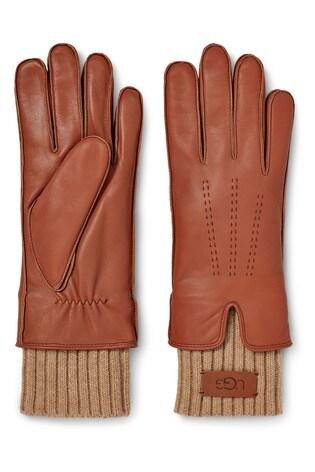 UGG Chestnut Leather Gloves