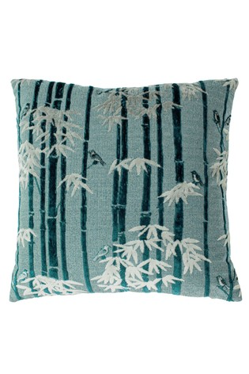 Anji Jungle Jacquard Cushion by Riva Home