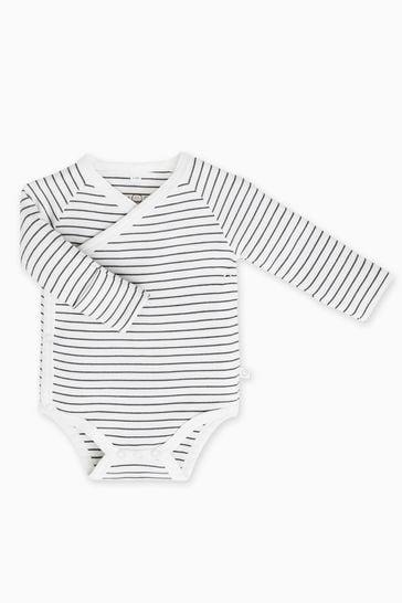MORI White Stripe Kimono Bodysuit