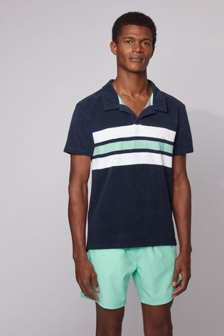 BOSS Blue Beach Polo T-Shirt