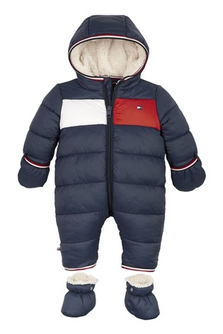 Tommy Hilfiger Blue Baby Flag Ski Suit