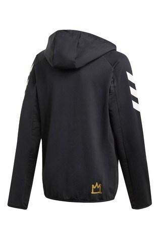 adidas Black Mo Salah Zip Through Hoody