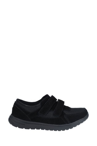 Fleet & Foster Black Jean Touch Fasten Shoes