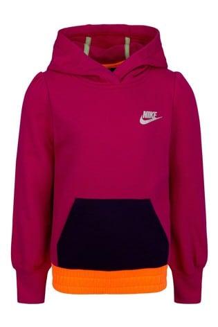 Nike Little Kids Pink Colourblock JDI. Overhead Hoodie