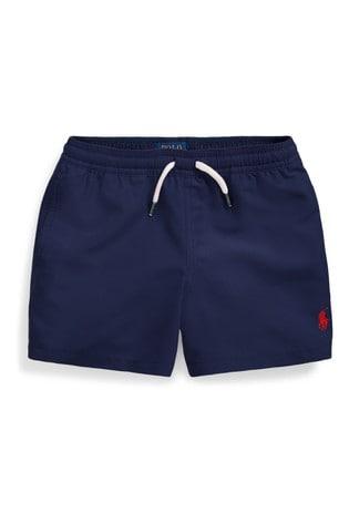Ralph Lauren Navy Logo Swim Shorts