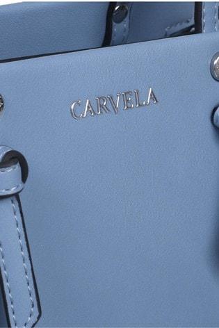 Carvela Blue Mini Jamie Knot Tote Bag
