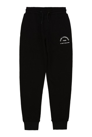 Karl Lagerfeld Black Logo Joggers