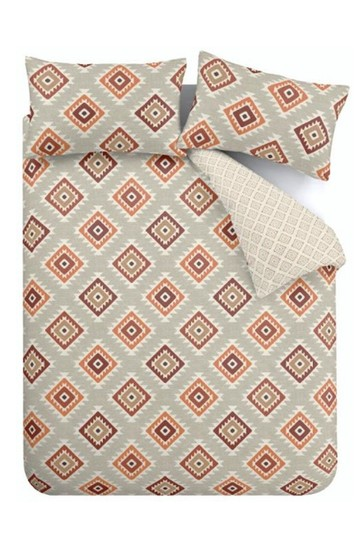 Catherine Lansfield Aztec Easy Care Duvet Cover and Pillowcase Set