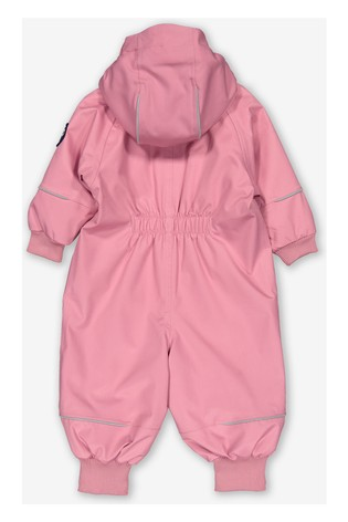 Polarn O. Pyret Pink Waterproof Shell Puddlesuit