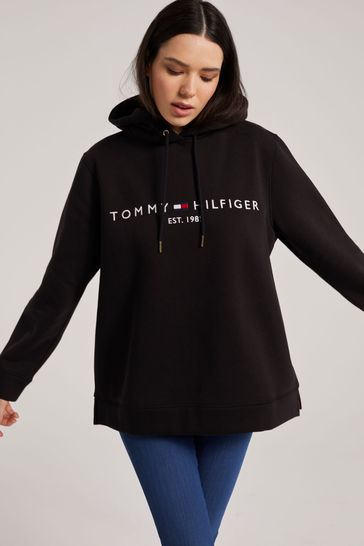 Tommy Hilfiger Black Curve Essential Logo Hoody