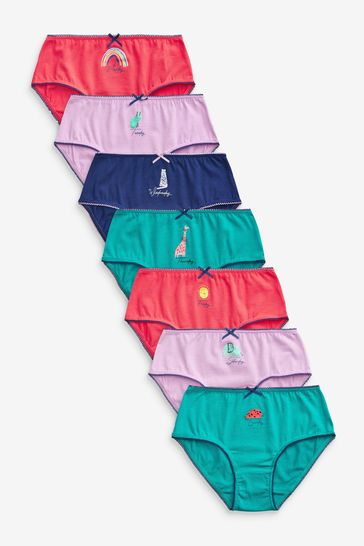 Red/Green/Purple Days Of The Week 7 Pack Briefs (1.5-12yrs)
