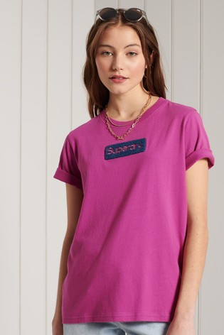 Superdry Purple Core Logo Workwear T-Shirt