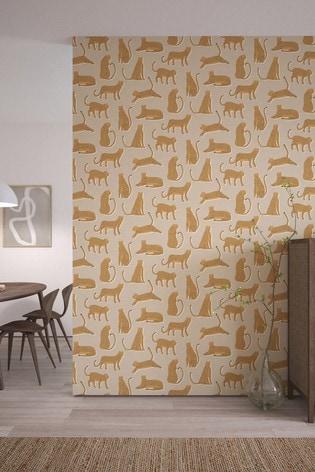 Scion Orange Lionel Cheetah Wallpaper