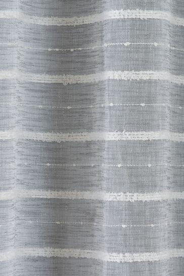 Tyrone Grey Antigua Eyelet Voile Curtains