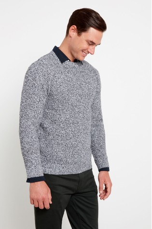 F&F Grey Salt & Pepper Honeycomb Crew Jumper