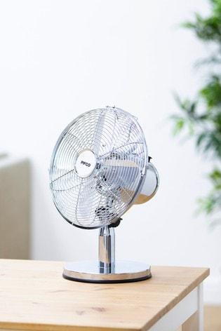 10 Inch Metal Desk Fan by Pifco
