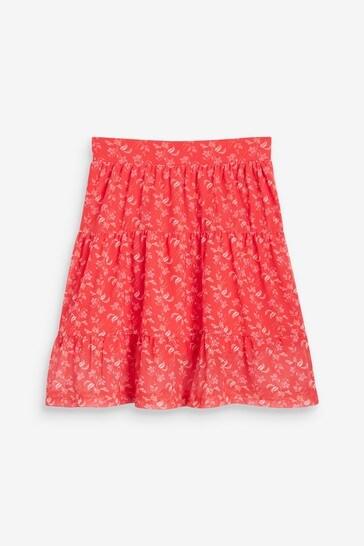 Red Mesh Skirt