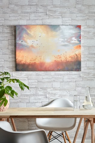 Serene Sunset Meadow Wall Art by Art For The Home