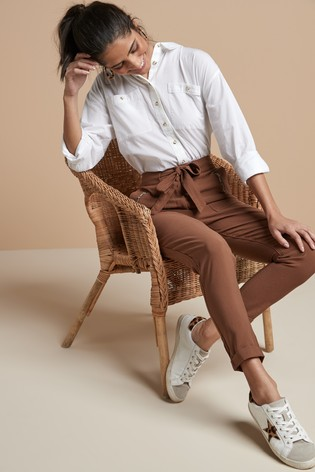 Ginger Soft Cargo Trousers