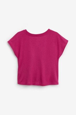 Nike Little Kids Glow In The Dark Tie Front T-Shirt