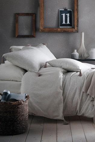 Appletree Trenton Spot And Stripe Cotton Duvet Cover and Pillowcase Set