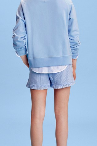 Tommy Hilfiger Blue Ruffle Ithaca Stripe Shorts