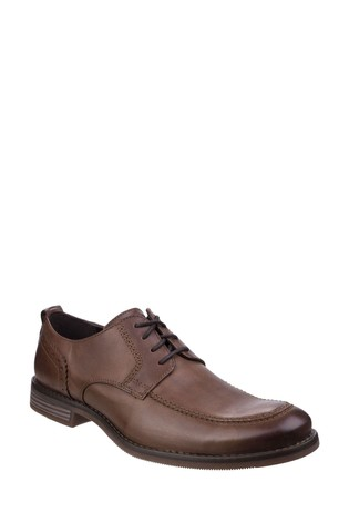 Rockport Brown Wynstin Apron Toe Lace Shoes