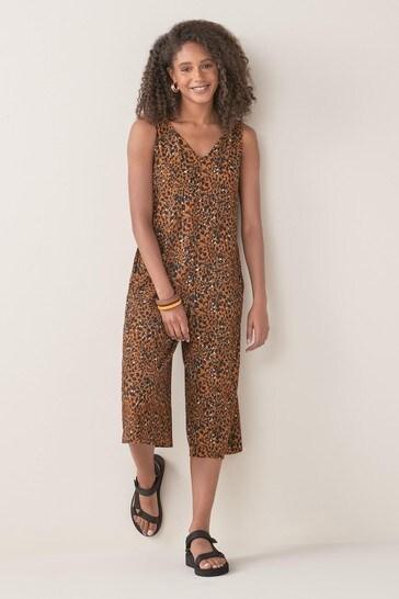 Animal Culotte Jumpsuit