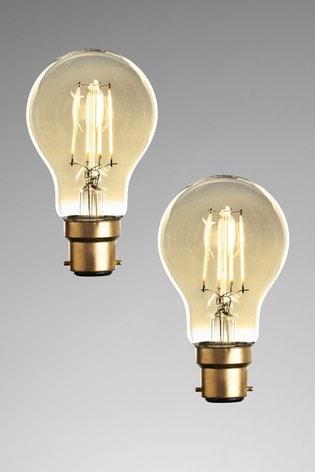 2 Pack 4W LED BC Retro GLS Bulbs