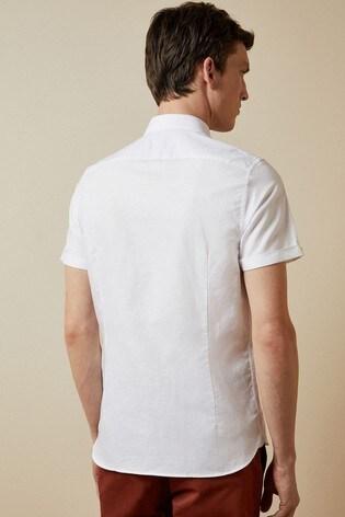 Ted Baker Have Fun Short Sleeve Linen Shirt