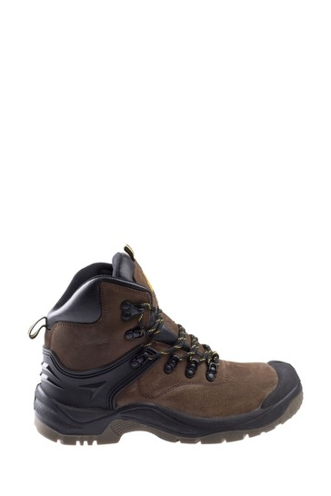 Amblers Safety Brown FS197 Shock Absorbing Waterproof Lace-Up Safety Boots