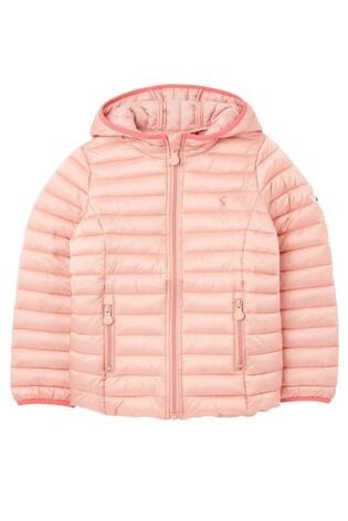 Joules Pink Kinnaird Pack Away Padded Jacket