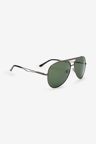 Gunmetal Aviator Style Sunglasses