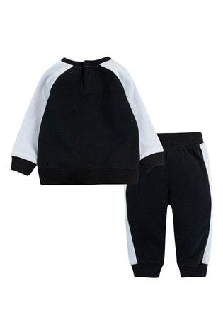 Nike Infant Black Crew And Joggers Set