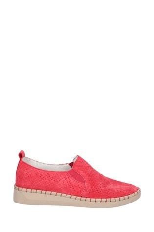 Fleet & Foster Red Tulip Slip On Shoes