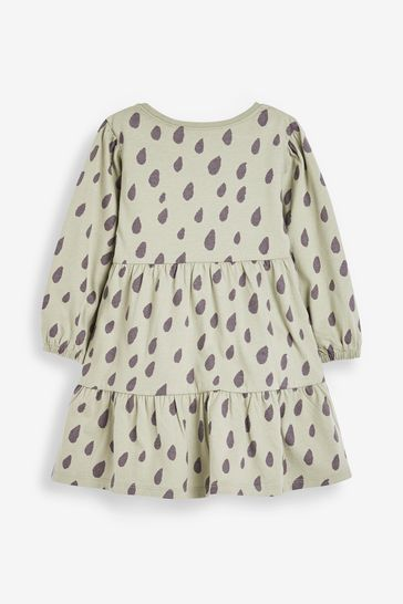 Sage Raindrop Jersey Dress (3mths-7yrs)