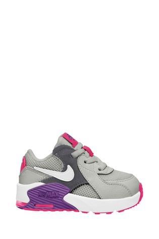 Nike Grey/Purple Air Max Excee Infant Trainers