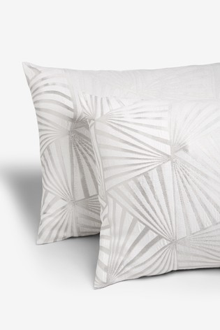 Jacquard Fans Duvet Cover and Pillowcase Set