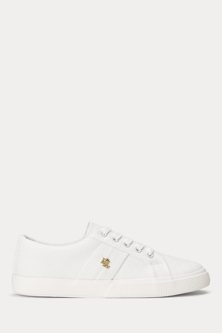 Lauren Ralph Lauren® White Canvas Janson Trainers