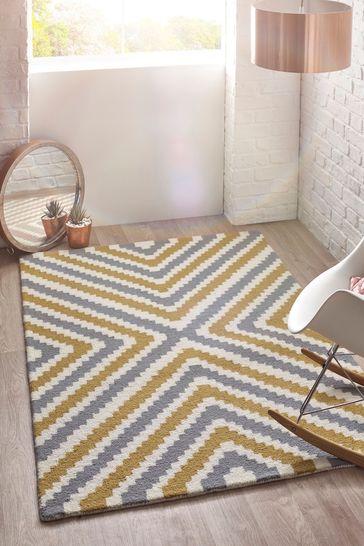 Lulu Wool Geo Rug by Origins